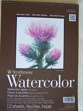 "Strathmore  Spiral Watercolor Paper 9""x12""  12 shts 400 Series"