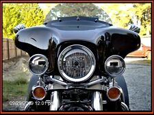 Harley Davidson Passing Lamp Mirror Polished Stainless Steel Light Deflectors