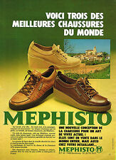 PUBLICITE ADVERTISING 044  1981  MEPHISTO  chaussures travail ville week-end