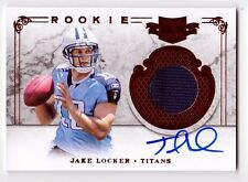 Jake Locker 2011 Plates & Patches Rookie On Card AUTOGRAPH Jersey Patch # 81/299