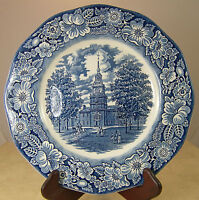 Liberty Blue Dinner Plate Independence Hall 10 inch Staffordshire England