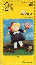 """Lollipop Kid: New ©1982 Stitch 'n Stuff Sewing Craft Doll Pattern #268 18""""Doll"""