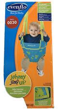New listing Evenflo Johnny Jump Up Infant Toddler Exercise Jumper Frog Blue Green Complete