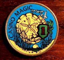 CASINO MAGIC Biloxi Mississippi Gambling Chip - $1 -  Vintage One Dollar
