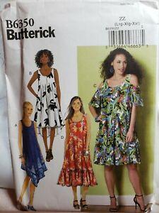 Sewing Pattern Womens Plus Sz Dress Coverup Muumuu Sz ZZ L XL XXL Butterick 6350