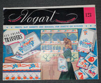VTG VOGART 123 ALL-COLOR Red White Blue Cherries Apples FRUIT Transfer Pattern