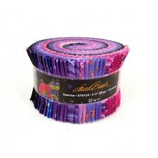 "Laurel Burch SUNRISE Precut 2.5"" Strips (40 Pieces) Jelly Roll Quilt Fabric"