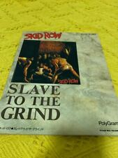 Skid Row slave to the grind guitar song book japan Sleeze Hard Rock