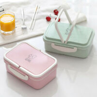 Lunch Box Portable Wheat Straw Picnic Microwave Bento Food Storage Container
