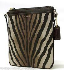 NWT COACH MADISON Zebra SWINGPACK CROSSBODY 50506 Animal Brown Multi Ocelot
