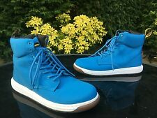 Dr Martens Malky youth blue canvas 8-eyelet boots with side zip UK 4 EU 37 NEW