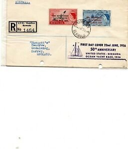 Bermuda Yacht Race First Day Cover 1956 registered