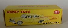 Repro Box Dinky Nr.191 Dodge Royal Sedan gelb oder grün