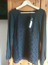Moda black lace blouse size 14 /16 brand new with tags