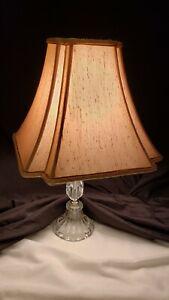 "Pair Set Beige Tan Textured Square Bell Lamp Shade Cut Corner 12"" x 14"""