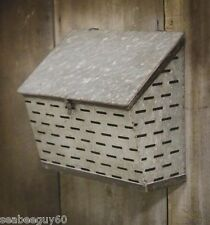 FARM OLIVE BUCKET Mailbox,Organizer Farmhouse Mail Box FARM Wall Storage Bin