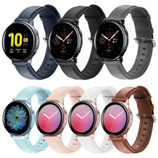 Genuine Leather Wrist Band For Samsung Watch Active 2 40mm 44mm Gear S3 Classic