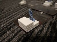 Board Game Stairs - Resident Evil 2 RE2 - 3D Printed White