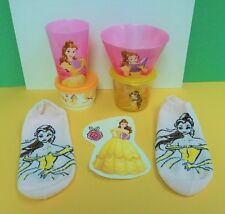 Beauty & Beast BELLE Dish Set Bowl Cup Tupperware Container DECAL Socks SALE