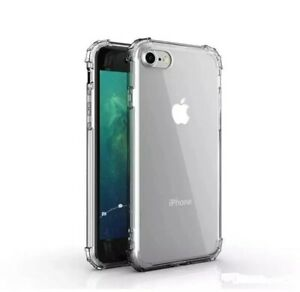 Case for iPhone SE 2020 Shockproof Hybrid Clear Silicone Bumper Gel TPU Cover