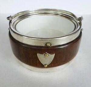 Vintage Small Biscuit barrel ceramic insert No lid 13 cm x 7.5 cm