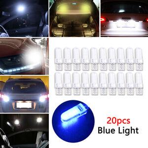 20pcs T10 194 W5W COB 2835 SMD 12LED Car License Light Bulb Super Bright Blue