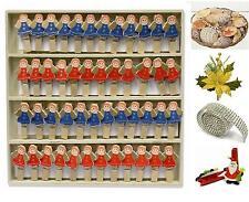 BOX N.48 MOLLETTE in LEGNO ANGELO 2 Col. per DECORO ALBERO o SEGNAPOSTO AT-1941