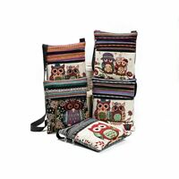Fashion Embroidered Owl Tote Bags Women Shoulder Bag Handbags Postman Package
