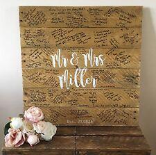 Rustic Personalised Alternative Wedding Guest Board Handmade From Reclaimed Wood