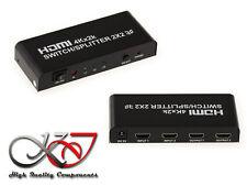 Switch Splitter HDMI - 2 entrées vers 2 sorties - Résolution 4K 2160x3840