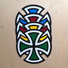 Independent trucks cut cross vinyl sticker skateboard