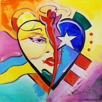 """Heart""by Alfred Gockel (Fine Art Painting on Canvas)"