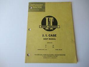 1954 Case D S LA VA tractor repair service shop manual