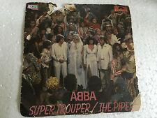 ABBA SUPER TROUPER/THE PIPER INDIA INDIAN PS SINGLE 45 *mega rare* Polydor vg+
