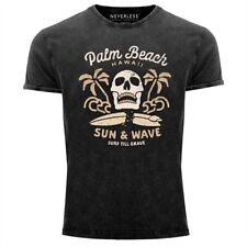Neverless ® señores t-shirt surf-motivo calavera Palm Beach vintage Shirt