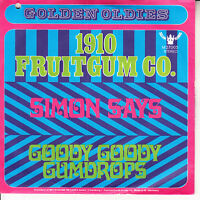 "1910 FRUITGUM CO.  Simon Says & Goody Goody Gumdrops PICTURE SLEEVE 7"" 45 NEW"