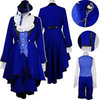 Kuroshitsuji Black Butler Ciel Phantomhive Anime Cosplay Costume Any Size unisex