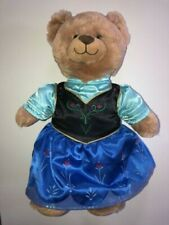 "Build-A-Bear Workshop 18"" Plush Disney Frozen Plush Anna with Dress Teddy Bear"