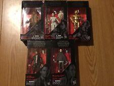LOT 5 Star Wars Black Series RESISTANCE figures. Rey, Finn, Poe, more NIB 6? ?