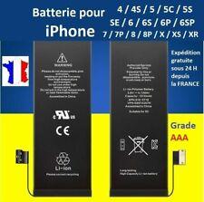 BATTERIE INTERNE NEUVE COMPATIBLE POUR IPHONE 5 5S 5C 5 SE 6 6S 7 8 PLUS X XS XR