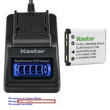 Kastar Battery LCD Quick Charger for Fujifilm NP-45A 45B 45S Fuji FinePix JV200
