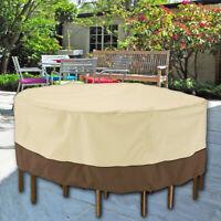 Petite couverture imperméable ronde de meubles chaise table de patio jardin
