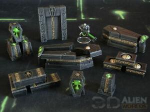 CC3D - Runic/ Necron Kill Team Arena - Wargames Miniatures Scenery 40k 28mm 15mm