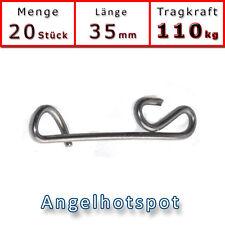 20 Stück Knotenlosverbinder | 110KG | Fast Link | Knotenlos | Angelhotspot