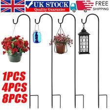 More details for 1/4x shepherd crook hook flowerpot stand garden outdoor plant basket lamp hanger