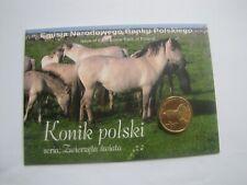 blister 2 zł. seria zwierzęta konik polski