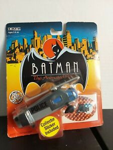BATMAN THE ANIMATED SERIES GOTHAM CITY POLICE HELICOPTER TOY ON CAR ERTL