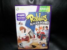 Rabbids Alive & Kicking  (Xbox 360, 2011) EUC