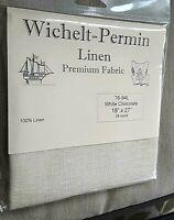 Wichelt Permin PREMIUM LINEN FABRIC 28 Ct Cross Stitch 18 x 27 WHITE CHOCOLATE