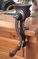 Vintage 1950s Empire Hand Mincer Made In England. Wooden Handle, Bench Clamp